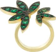 18kt Yellow Gold 'lilly' Ring