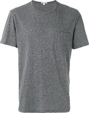 Chest Pocket T Shirt Men Cottonlinenflaxpolyester 2, Grey