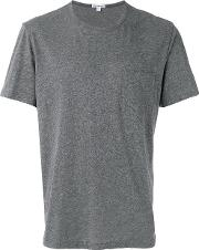 Chest Pocket T Shirt Men Cottonlinenflaxpolyester 4