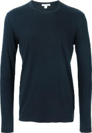 Long Sleeve T Shirt Men Cotton 1, Blue