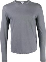 Longsleeved T Shirt Men Cotton 1, Grey