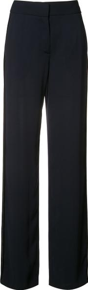 Inside Out Trousers Women Polyester 2, Black