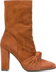 Jean Michel Cazabat Front Knot High Boots Women Leathersuede 38, Women's, Brown