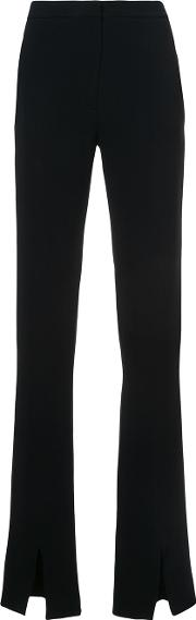 Jeffrey Dodd Flared Trousers Women Silkacetateviscose 42, Black