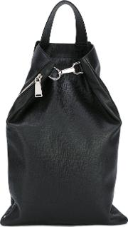 Bucket Backpack Men Cottoncalf Leather One Size, Black