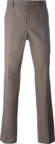 Compact Chino Trousers Men Cotton 48, Brown