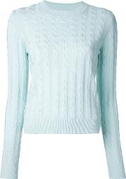 Crew Neck Jumper Women Cottonrayon L, Green