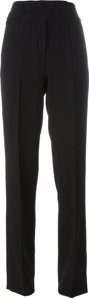 High Waisted Trousers Women Polyesterrayon 42, Black