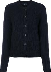 Jil Sander Navy Button Up Cardigan Women Wool M, Blue