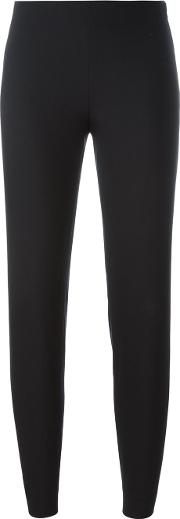 Side Zip Trousers Women Polyesterspandexelastaneacetatewool 34, Black