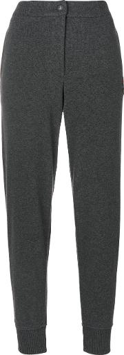 Jo No Fui High Waisted Track Pants Women Cottonpolyamidepolyesterglass M, Grey