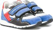 Double Strap Sneakers Kids Leatherpig Leathercalf Suederubber 21, Boy's, Blue