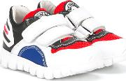 Double Strap Sneakers Kids Leatherpolyesterpig Leatherrubber 26