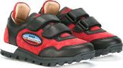 Touch Fastening Sneakers Kids Calf Leatherleatherrubber 24, Boy's, Red