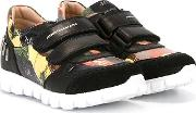 Touch Fastening Sneakers Kids Calf Leatherrubberleather 33, Black