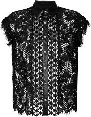 Lace Sleeve Less Blouse