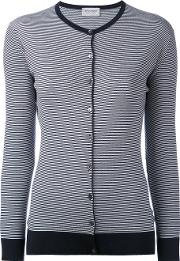 Striped Cardigan Women Cotton L, Blue