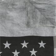 Stars And Stripes Scarf Men Silkviscose One Size, Grey