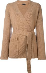 Belted Cardigan Women Cashmere Xl, Brown