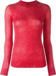 Cashmere Perforated Cardigan Women Cashmere Xl, Red