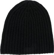 Joseph Ribbed Beanie Men Cashmere One Size, Black