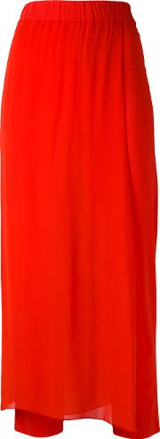 Jucca Layered Cropped Trousers Women Spandexelastaneviscose 42, Red