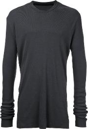 Round Neck Top Men Cottonlyocell 3, Grey