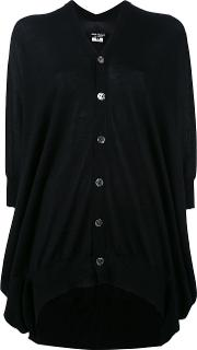 Flared Buttoned Cardigan Women Wool S, Black