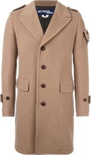 Back Panel Trench Coat Men Nyloncuprowool M