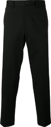 Classic Fit Chino Trousers Men Cotton S, Black