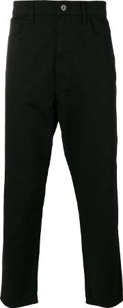 Cropped Tapered Jeans Men Cottonpolyester S, Black