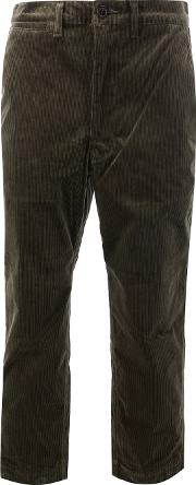 Junya Watanabe Comme Des Garcons Man Cropped Corduroy Trousers Men Cottonpolyurethane M, Green