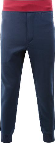 Junya Watanabe Comme Des Garcons Man Gathered Ankle Track Pants Men Polyesterwool S, Blue