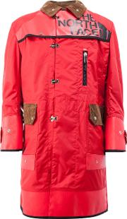 Junya Watanabe Comme Des Garcons Man The North Face Printed Double Breasted Coat Men Cottonnylonpolyeste, Red