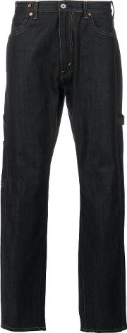Junya Watanabe Comme Des Garcons Man Upturned Cuff Jeans Men Cotton L, Blue