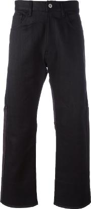 Panelled Jeans Men Cottonnylonpolyamidewool M, Black