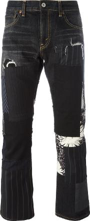 Patchwork Trousers Men Cottoncuprorayonwool M, Grey