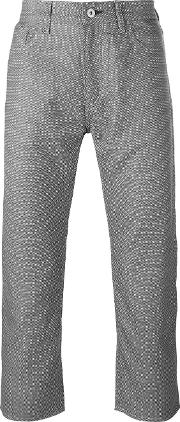 Patterned Cropped Jeans Men Polyesterwool M