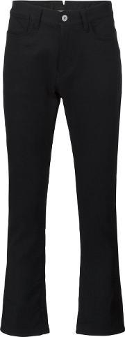 Pinstripe Patch Pocket Jeans Men Cottonpolyester L, Black