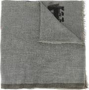 Printed Scarf Men Cottoncashmere One Size, Grey