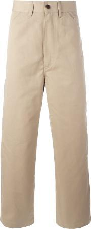 Straight Leg Chino Trousers Men Cottonpolyester S, Nudeneutrals