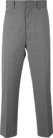 Tailored Cropped Trousers Men Cuprowool S, Grey