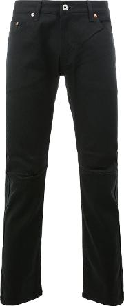 Tapered Trousers Men Cottonpolyurethane M, Black