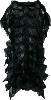 Origami Front Dress Women Polyester S, Black