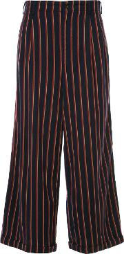 Junya Watanabe Comme Des Garcons Vintage Striped Flared Trousers