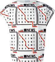 J.w.anderson News Boatneck T Shirt Men Cottonpolyester Xs, White