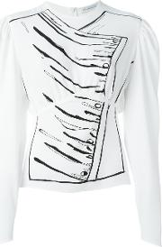 J.w.anderson Puff Sleeve Blouse Women Polyesteracetate 8