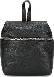 Small Zipped Backpack Women Leather One Size, Black