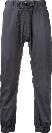 Cropped Drawstring Trousers Men Nylonpolyester 2, Grey