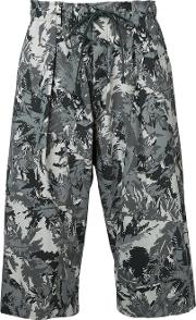 Printed Cropped Trousers Men Nylonpolyester 1, White